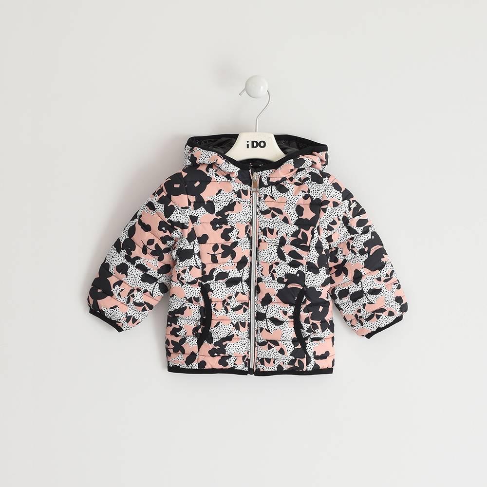 Куртка для девочки iDO демисезонная утепленная с капюшоном 4.3320.49/6QY9
