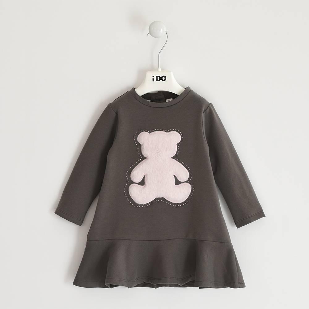 Платье для девочки iDO длинный рукав вставка эко кожа 4.3599.00/0642