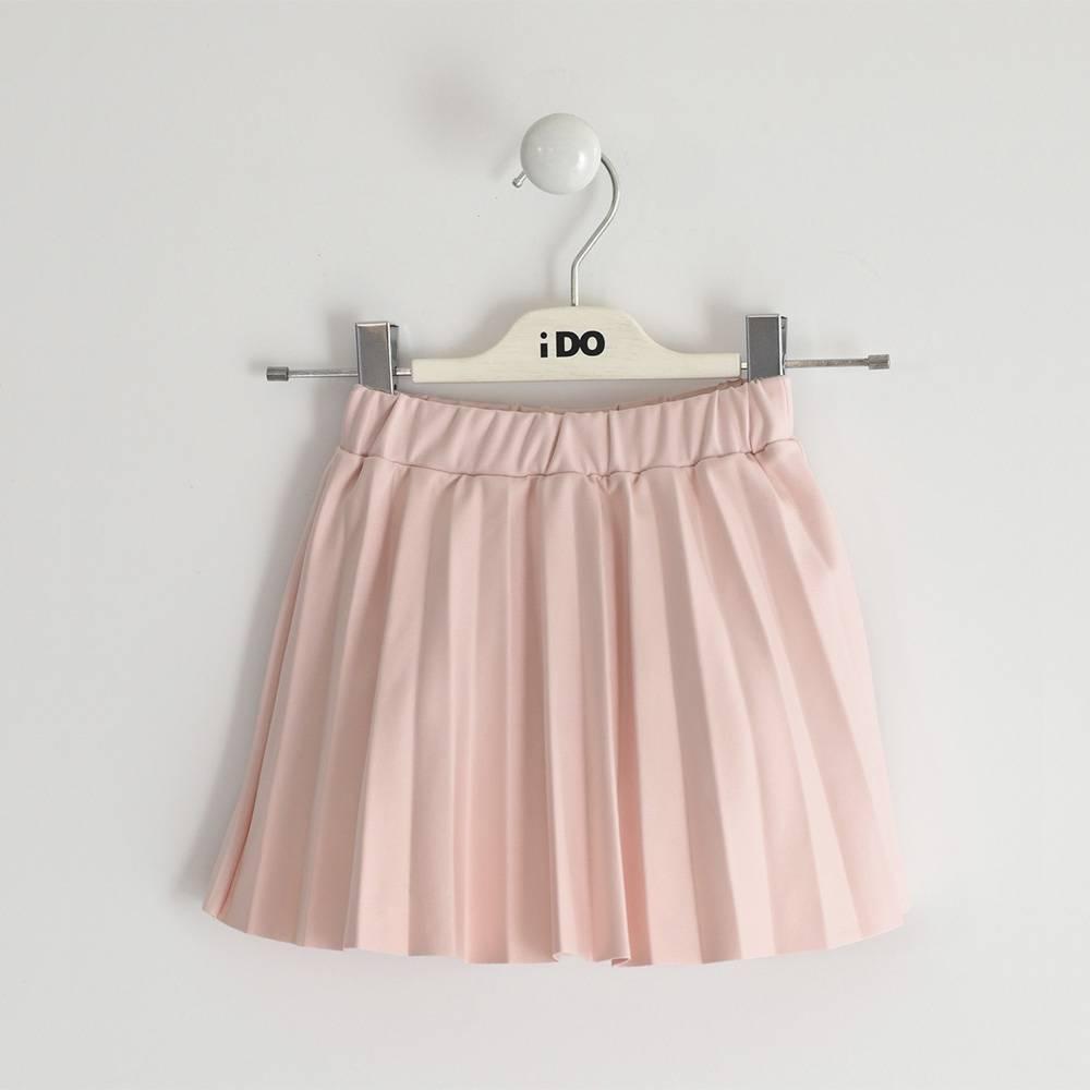 Юбка для девочки iDO эко-кожа розовый гафре 4.3662.00/2715