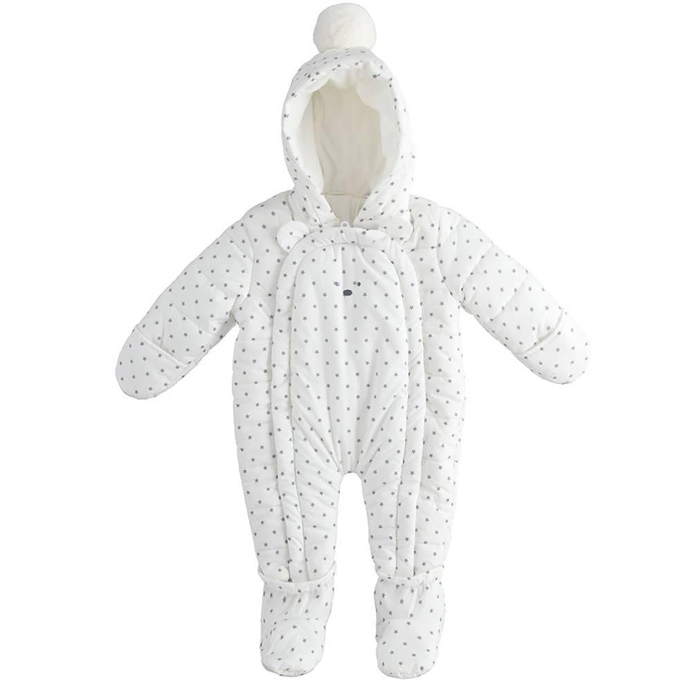 Комбинезон детский iDO теплый демисезонный с капюшоном 4.3297.00/6PW7