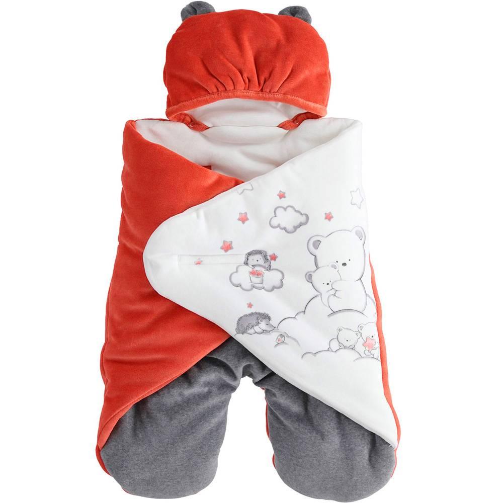 Комбинезон конверт детский iDO теплый демисезонный с капюшоном 4.3222.00/2052