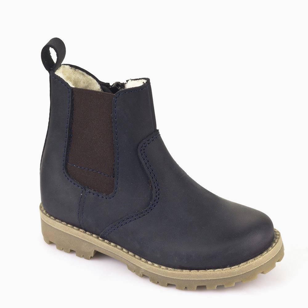 Ботинки детские Froddo зимние натуральная кожа синий G3160055m/Blue