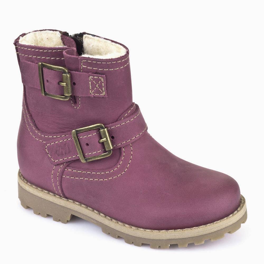 Ботинки для девочки Froddo зимние натуральная кожа молния G3160056-3m/bordeaux