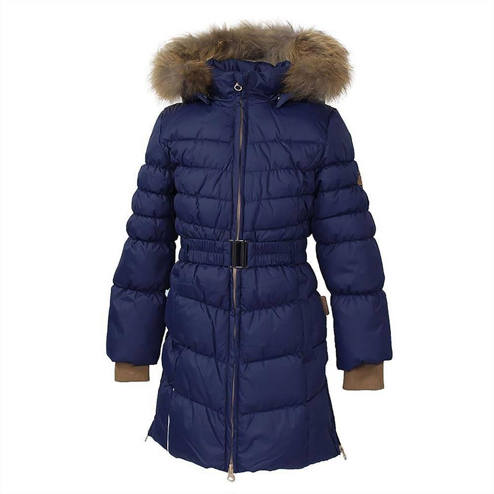 Пальто для девочки Huppa зимнее пуховое с капюшоном YASMINE 12020055/70086