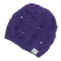 Шапка для девочки Huppa зимняя синяя вязанная 83410000/60053