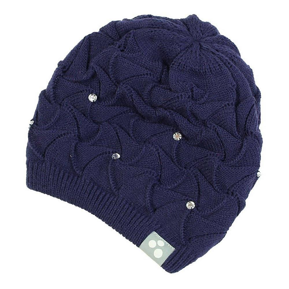 Шапка для девочки Huppa зимняя синяя вязаная 83410000/60086