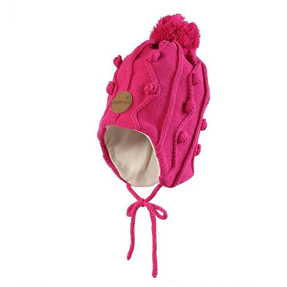 Шапка для девочки Huppa зимняя вязаная на завязках 83880000/60063