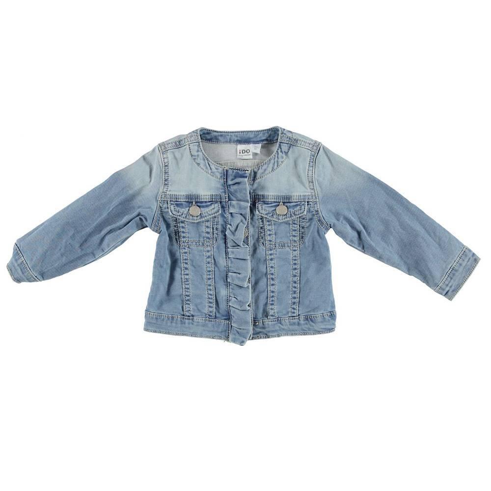 Куртка для девочки iDO джинсовая голубая 4.S393.00/7310