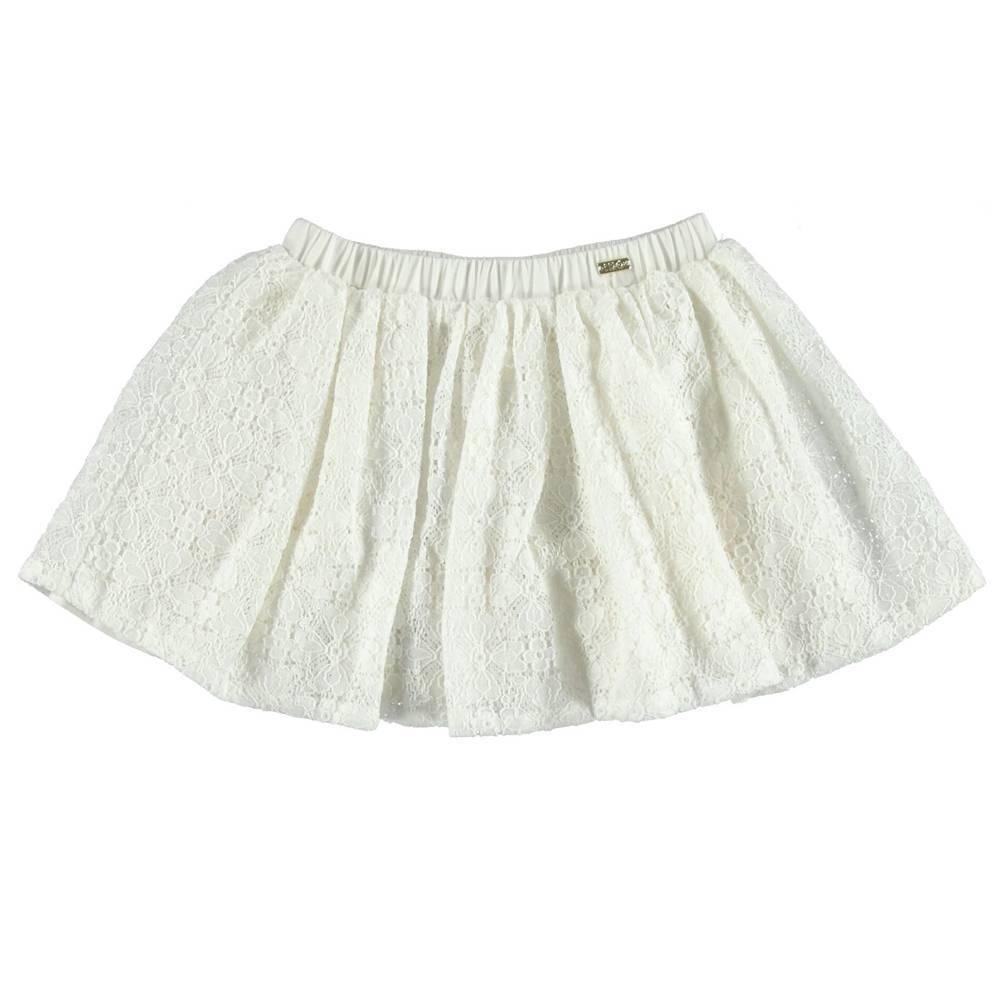 Юбка для девочки iDO белая хлопок на подкладке 4.S381.00/0112