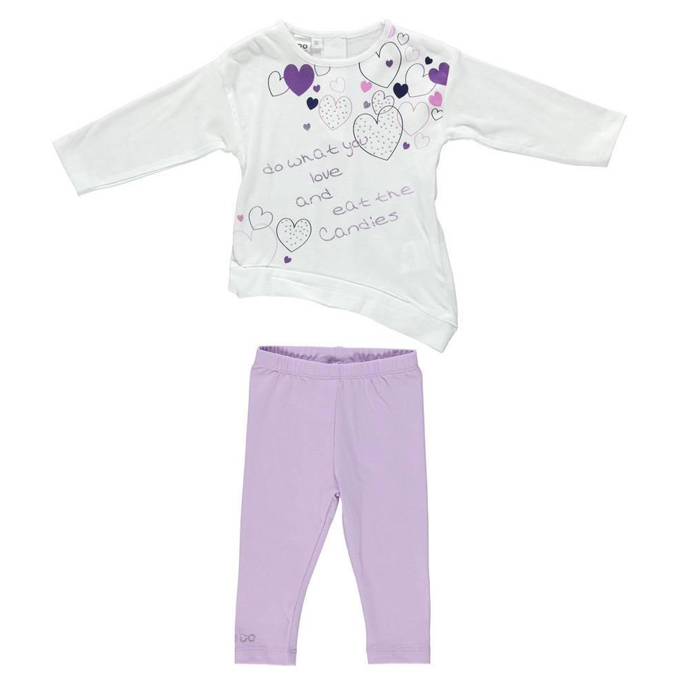 Комплект для девочки iDO трикотаж хлопок костюм туника и леггинсы 4.S309.00/8277