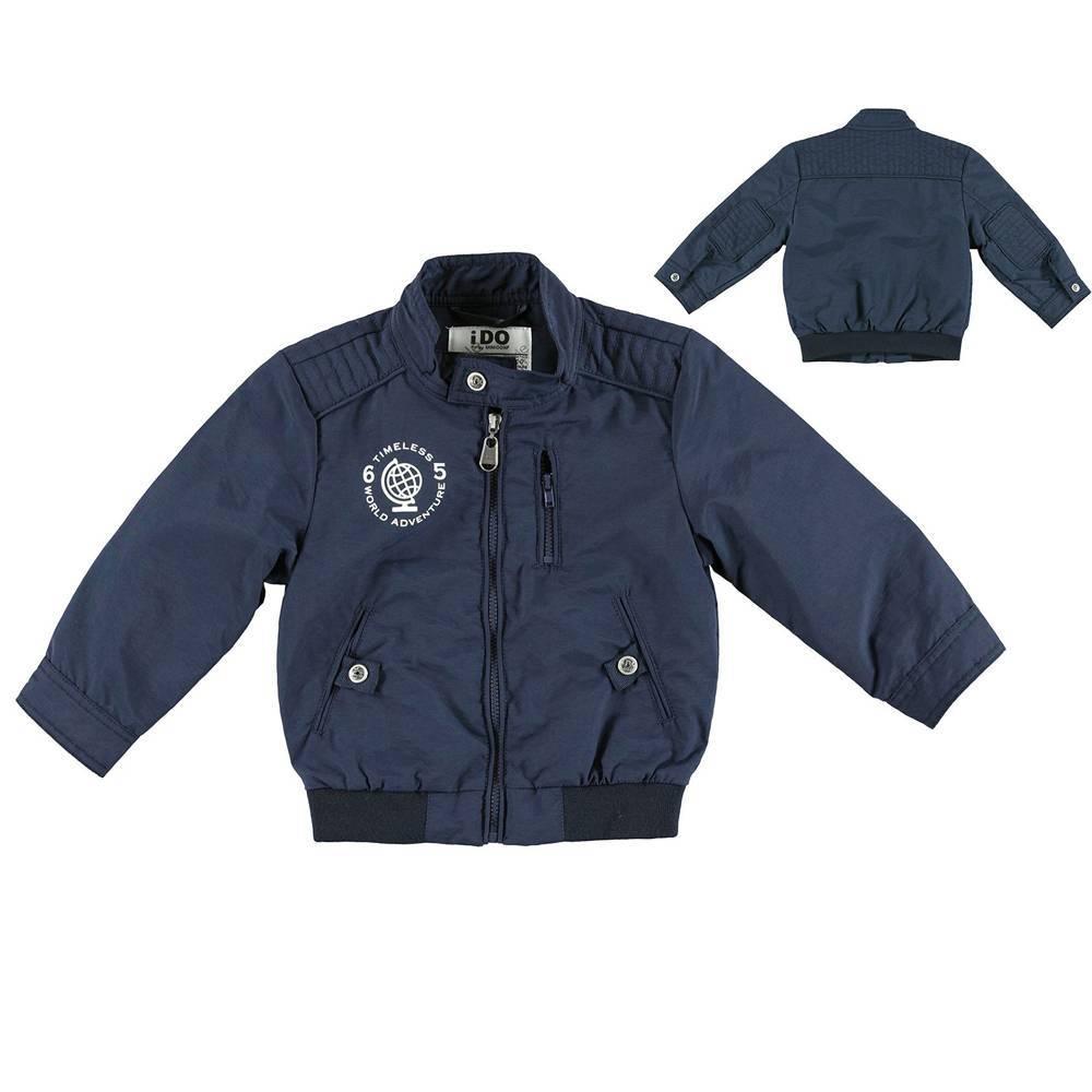 Куртка для мальчика iDO бомбер синяя демисезонная 4.S282.00/3856