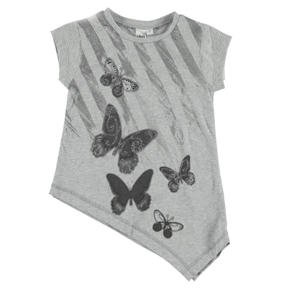 Туника для девочки летняя принт в виде бабочек 4.S534.00/8992