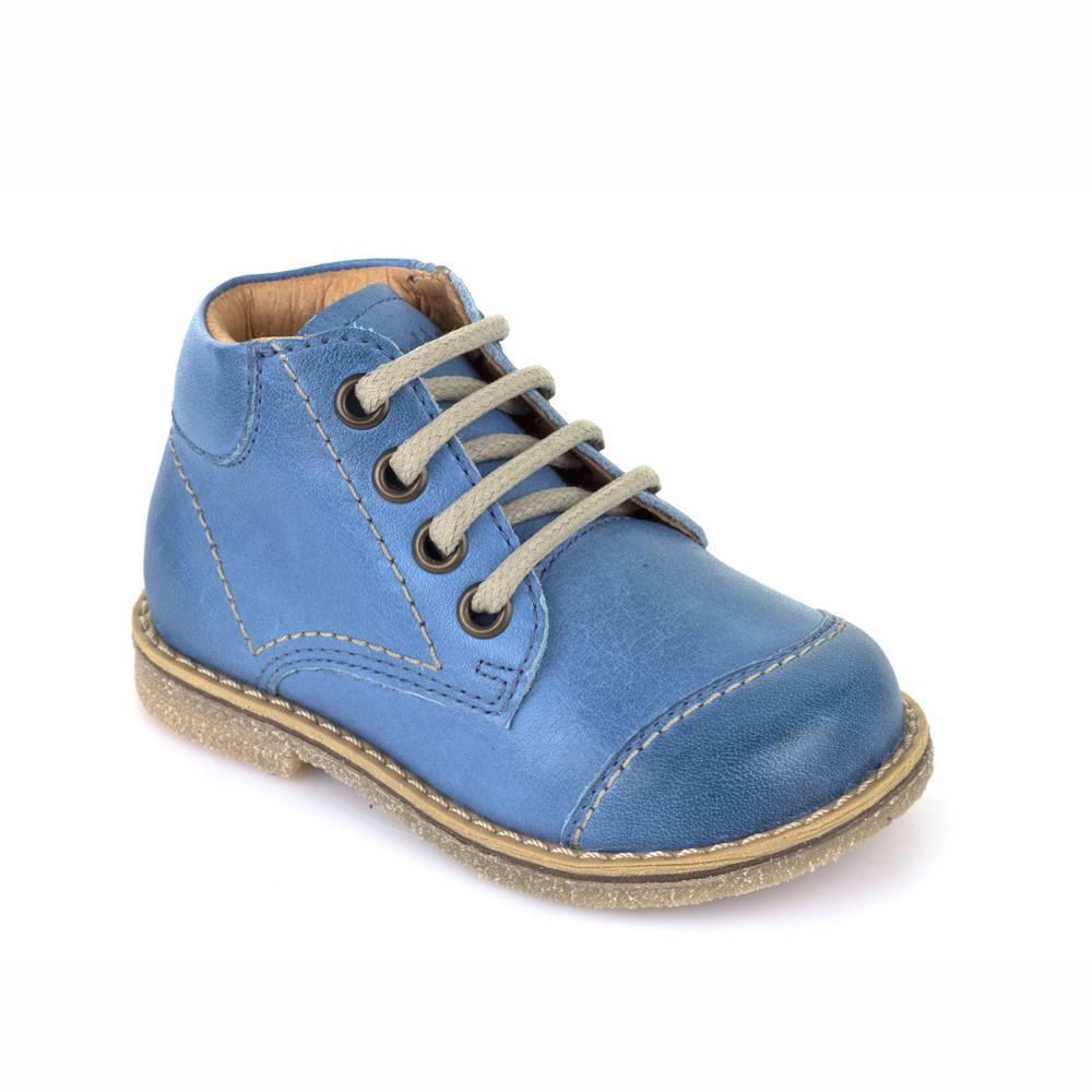 Ботинки для мальчика Froddo демисезонные натуральная кожа на шнурках G2130112-3/denim