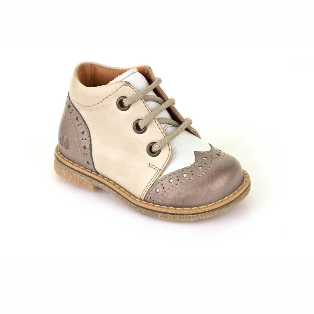 Ботинки для девочки Froddo демисезонные натуральная кожа на шнурках G2130113-1/Beige