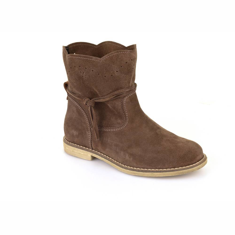Сапоги для девочки Froddo демисезонные натуральная кожа на молнии G4160049-1/Brown