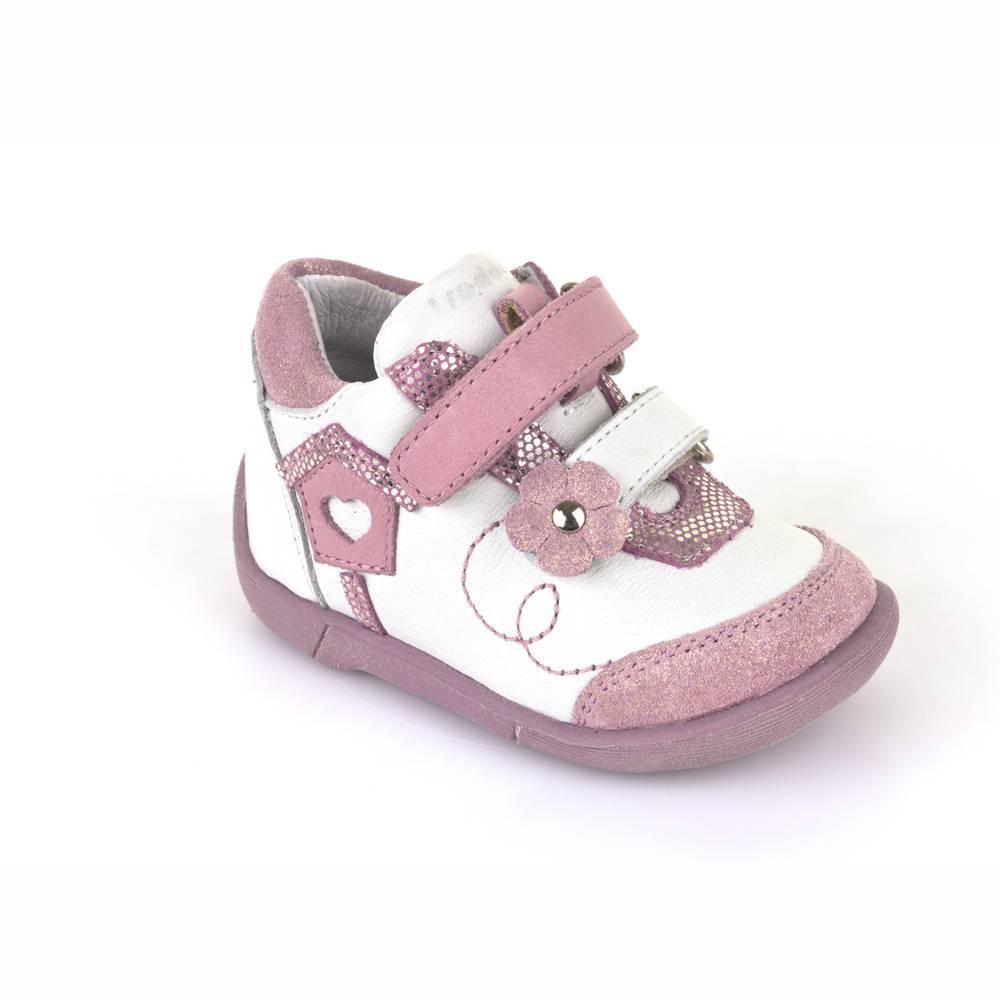 Ботинки для девочки Froddo демисезонные натуральная кожа липучки G2130119-1/Pink