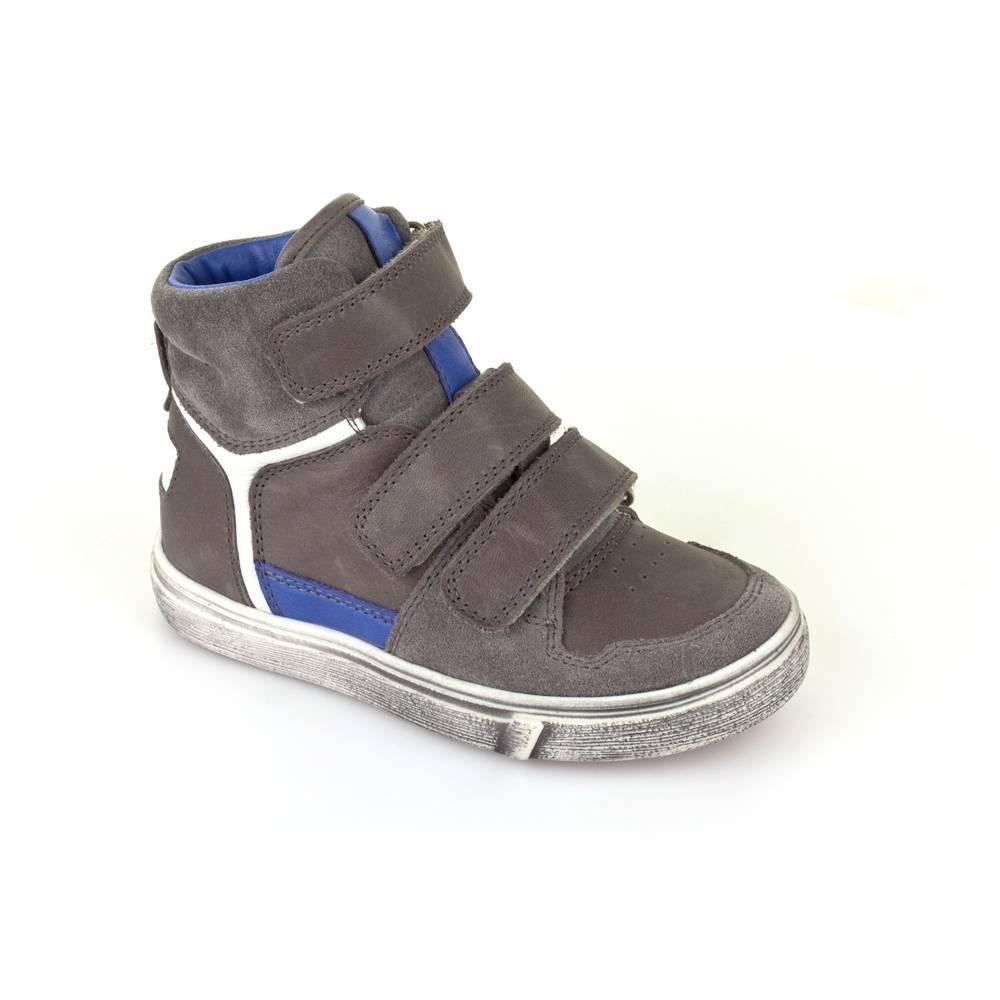 Кроссовки для мальчика Froddo демисезонные натуральная кожа липучки серый G3110080-1/Grey