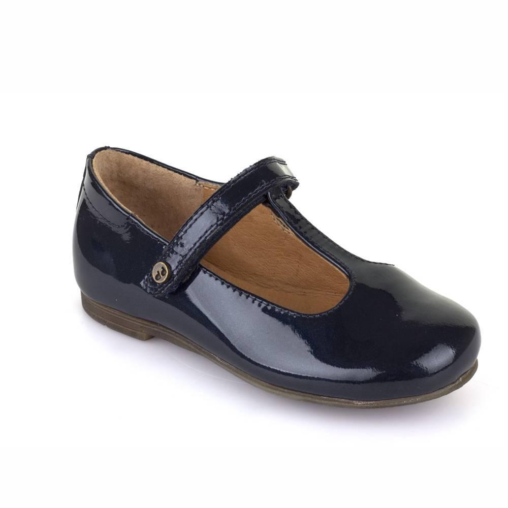 Туфли для девочки Froddo лакированные синий на перепонке G3140055-8/Blue