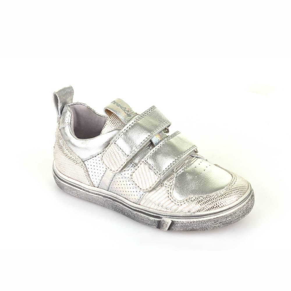 Кроссовки для девочки Froddo демисезонные натуральная кожа липучки G3130095-3/Silver