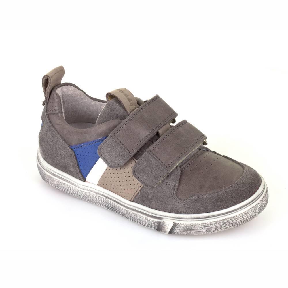 Кроссовки для мальчика Froddo демисезонные натуральная кожа липучки G3130095-1/Grey