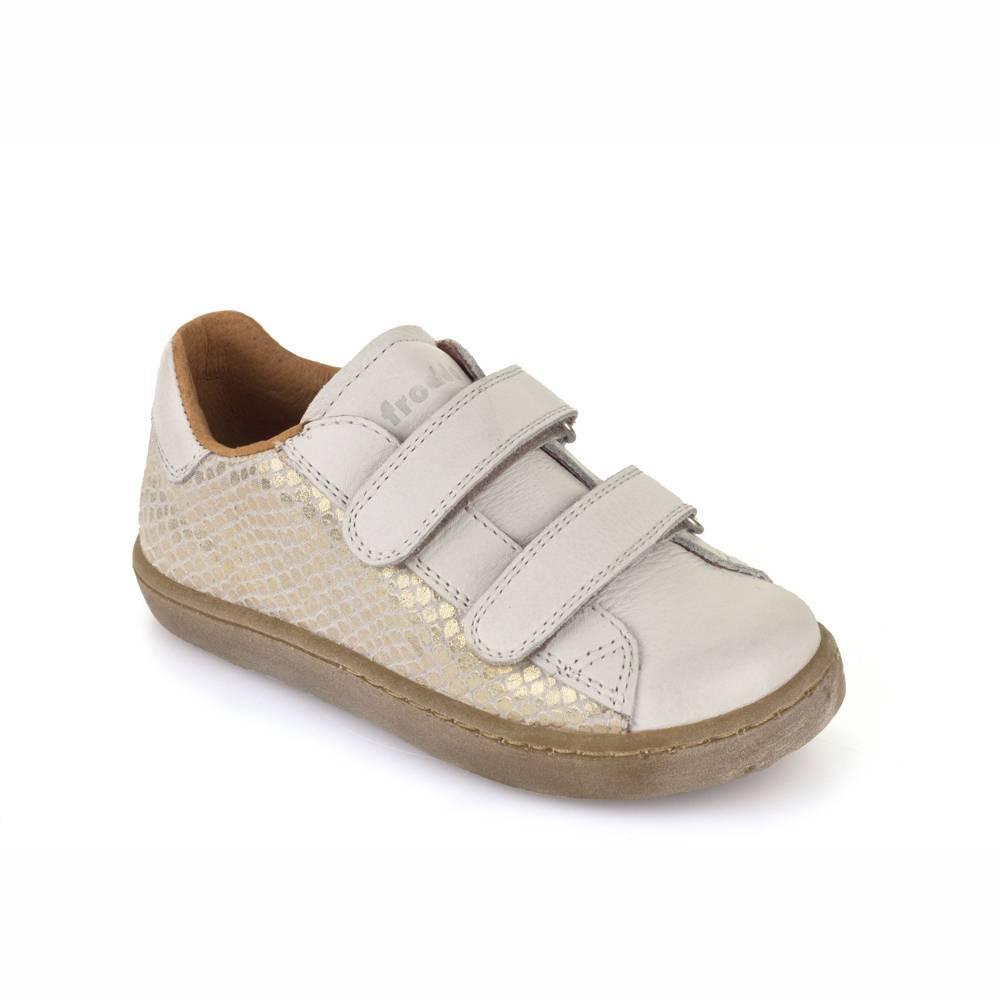Кроссовки для девочки Froddo демисезонные натуральная кожа на липучках G3130094-5/White