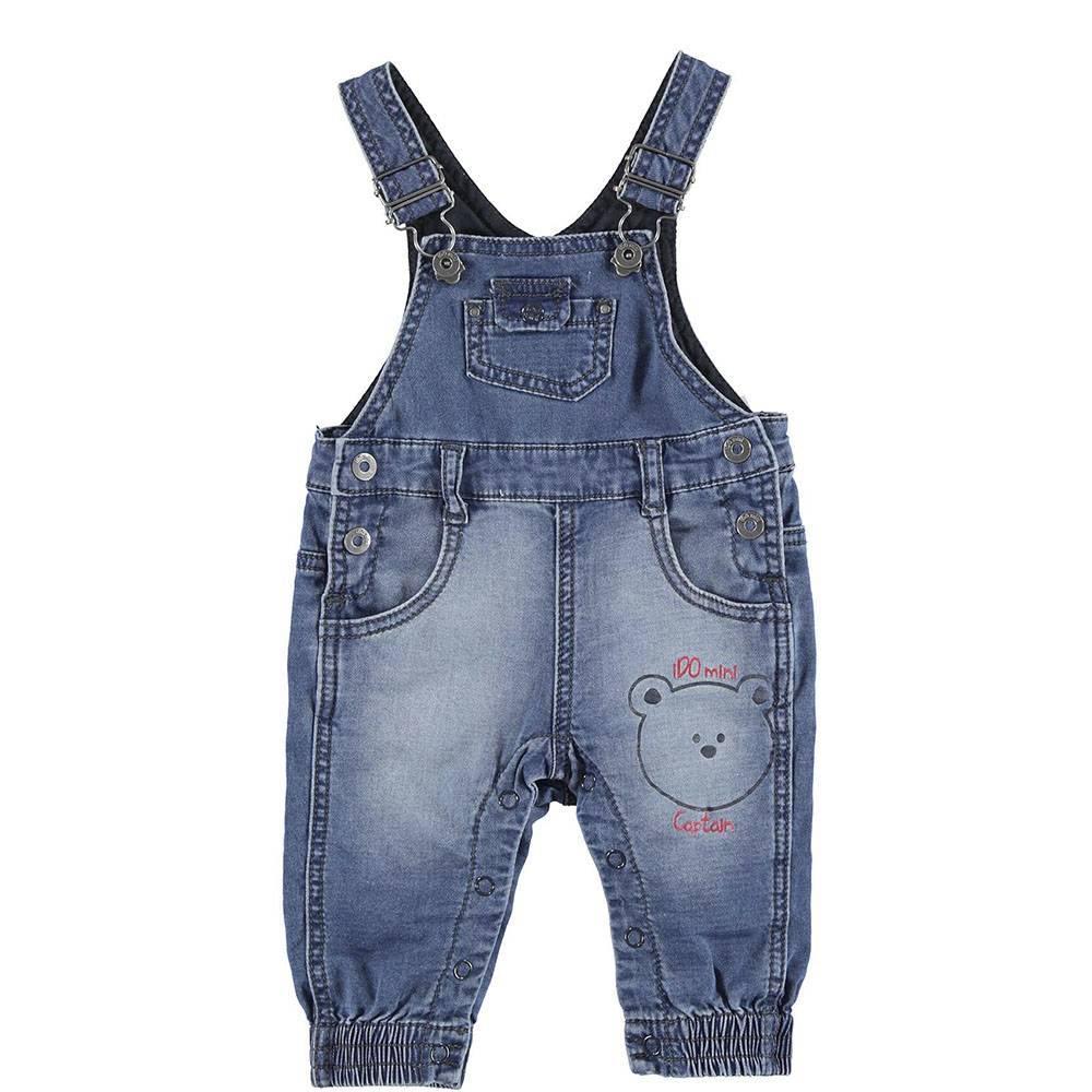 Комбинезон для мальчика iDO джинсовый синий хлопок 4.S054.00/7400