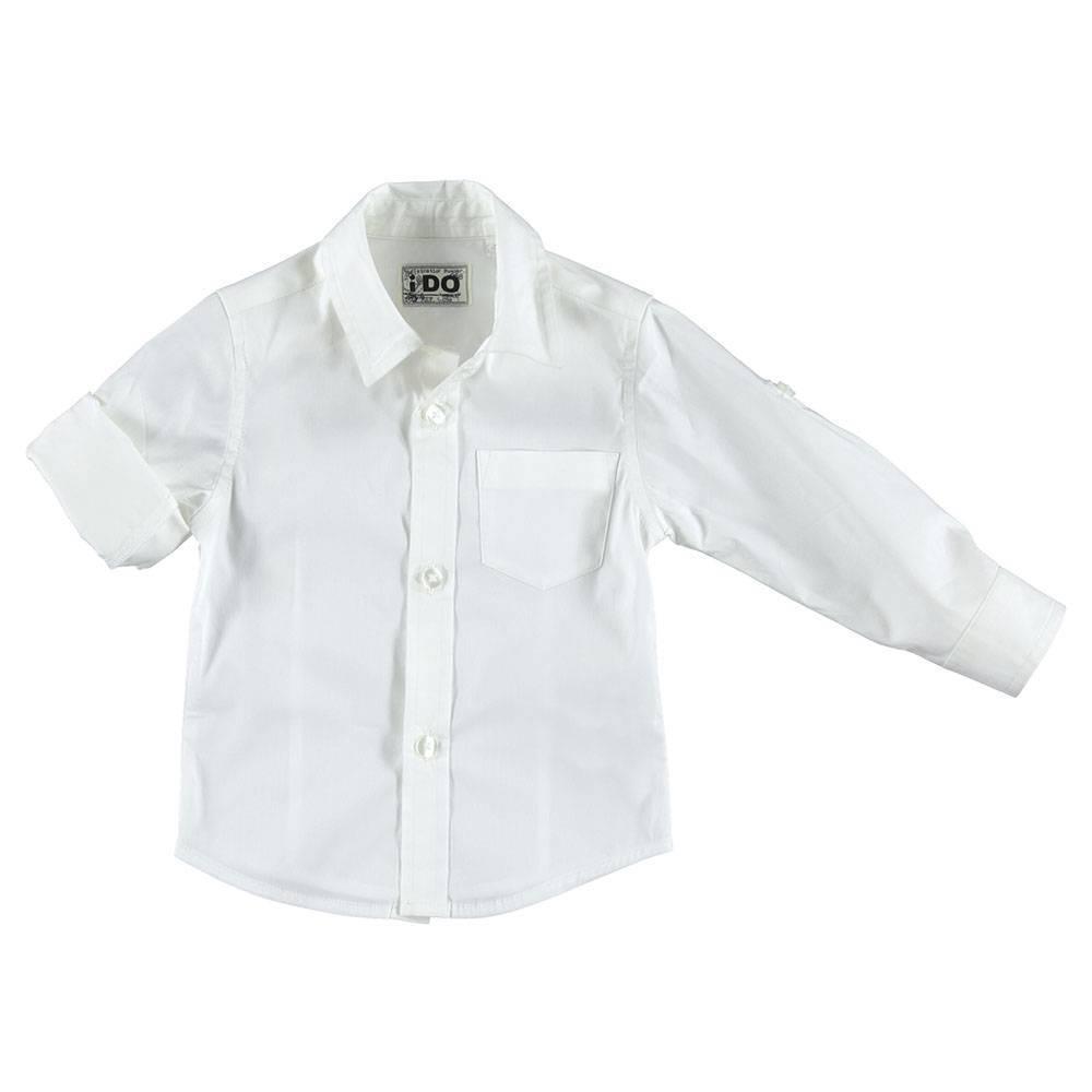 Рубашка для мальчика iDO классика белый хлопок 4.S210.00/0113
