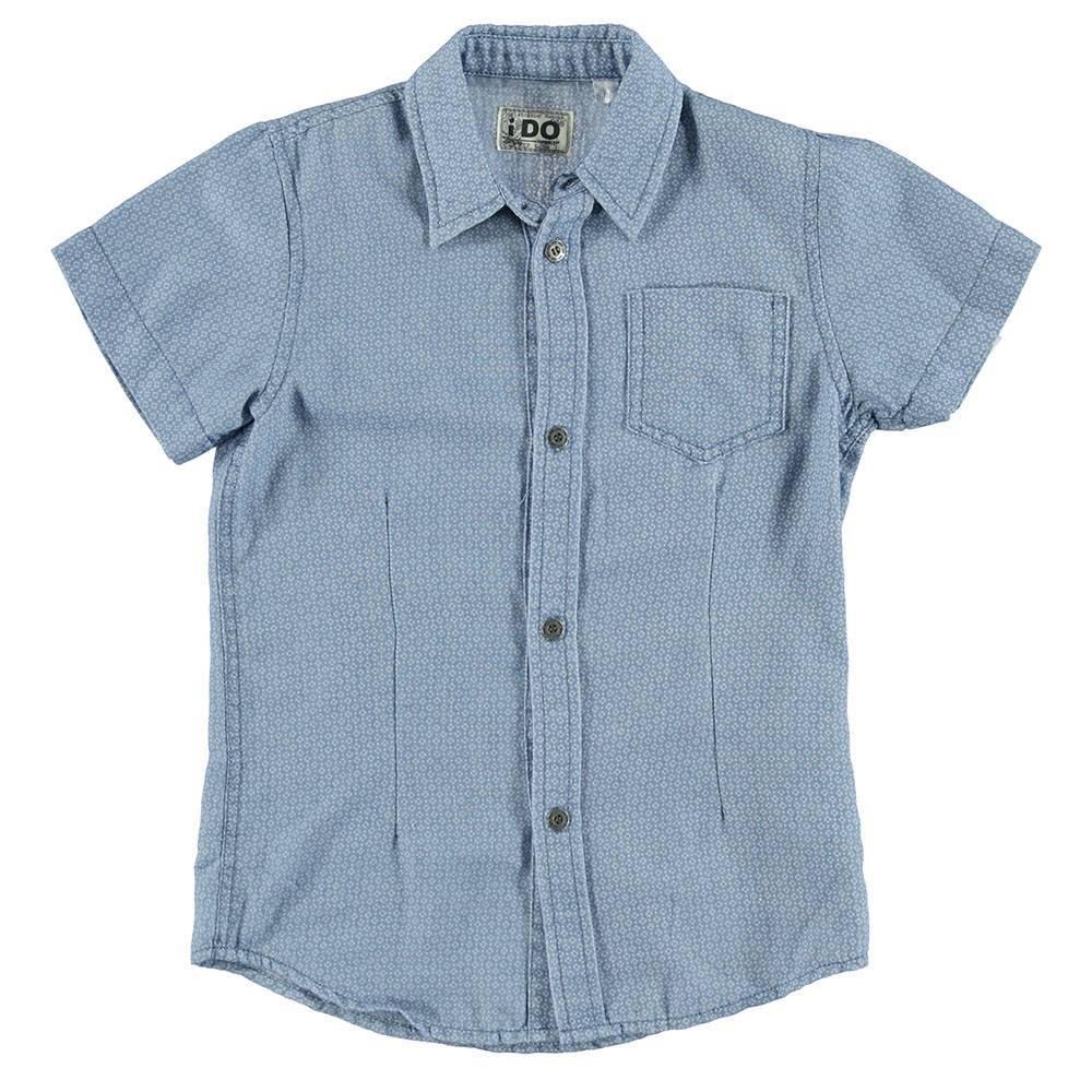 Рубашка для мальчика iDO летний короткий рукав 4.S801.00/7350