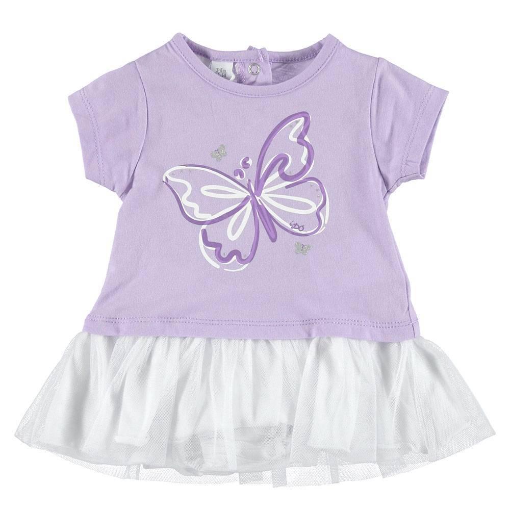 Платье для девочки iDO хлопок трикотаж оборка принт 4.S662.00/3412