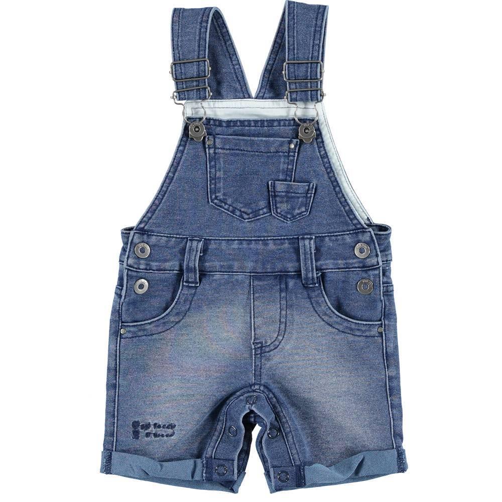 Комбинезон для мальчика iDO джинсовый ша шлейках 4.S612.00/7400
