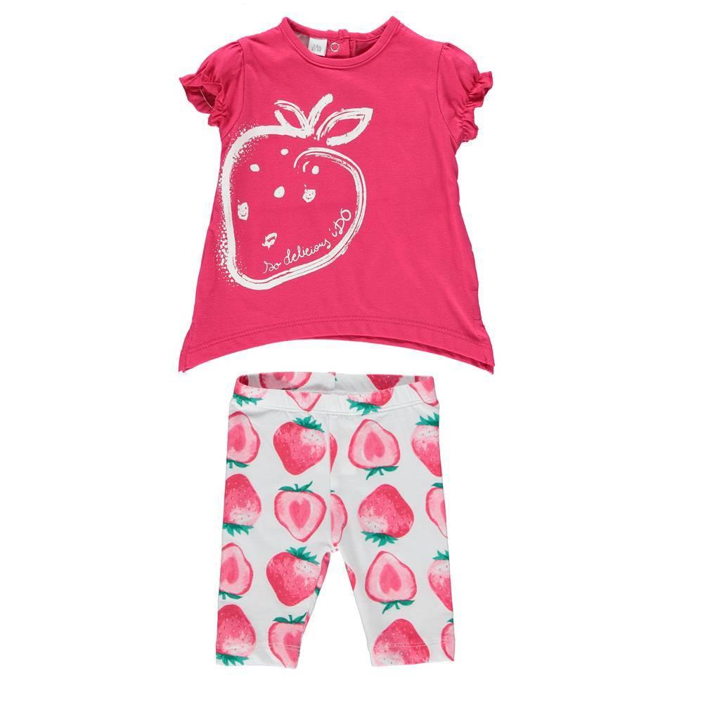 Комплект для девочки iDO летний хлопок трикотаж цветной принт 4.S674.00/8047