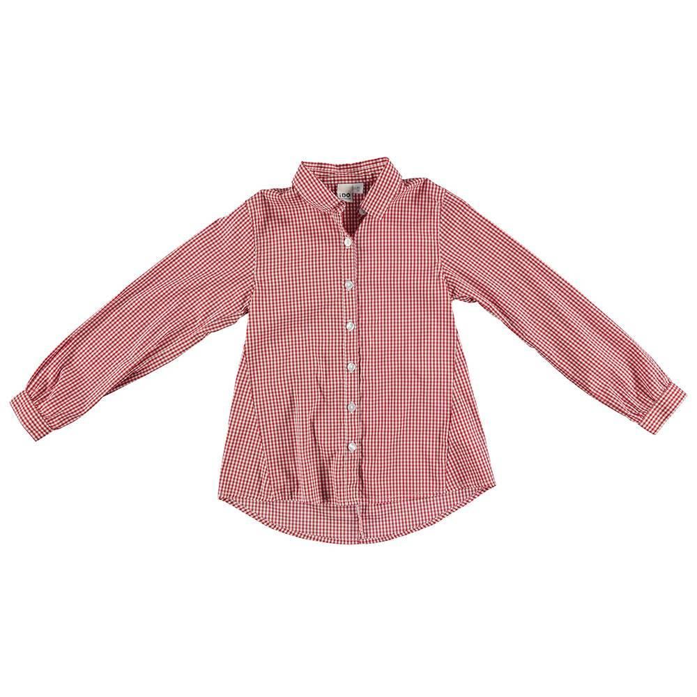 Рубашка для девочки iDO в клетку стильная 4.S512.00/2243