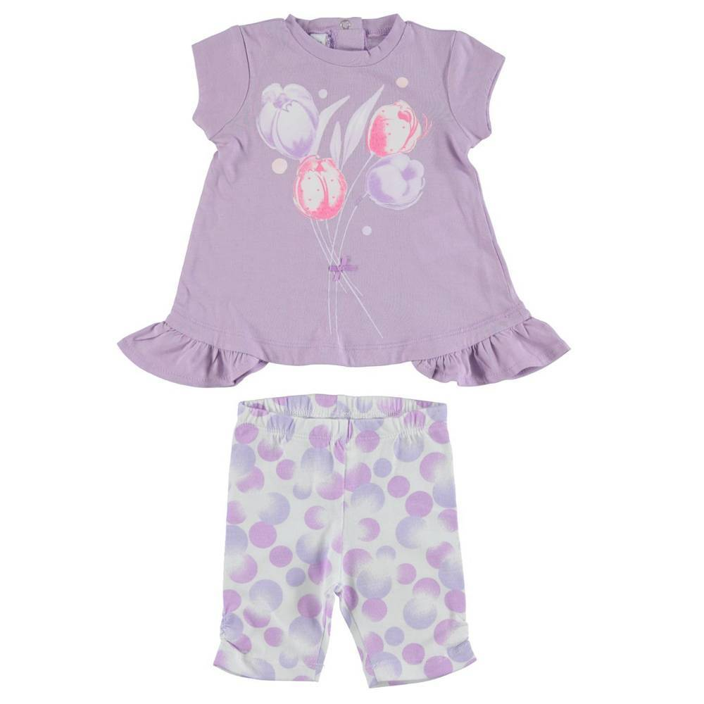 Комплект для девочки iDO летний хлопок трикотажный футболка леггинсы 4.S676.00/8279