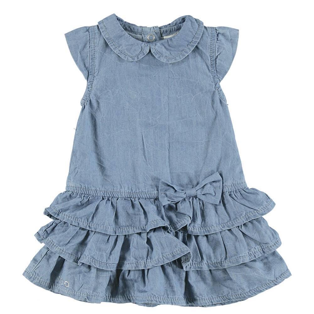Платье для девочки iDO джинсовое с рюшами 4.S339.00/7310