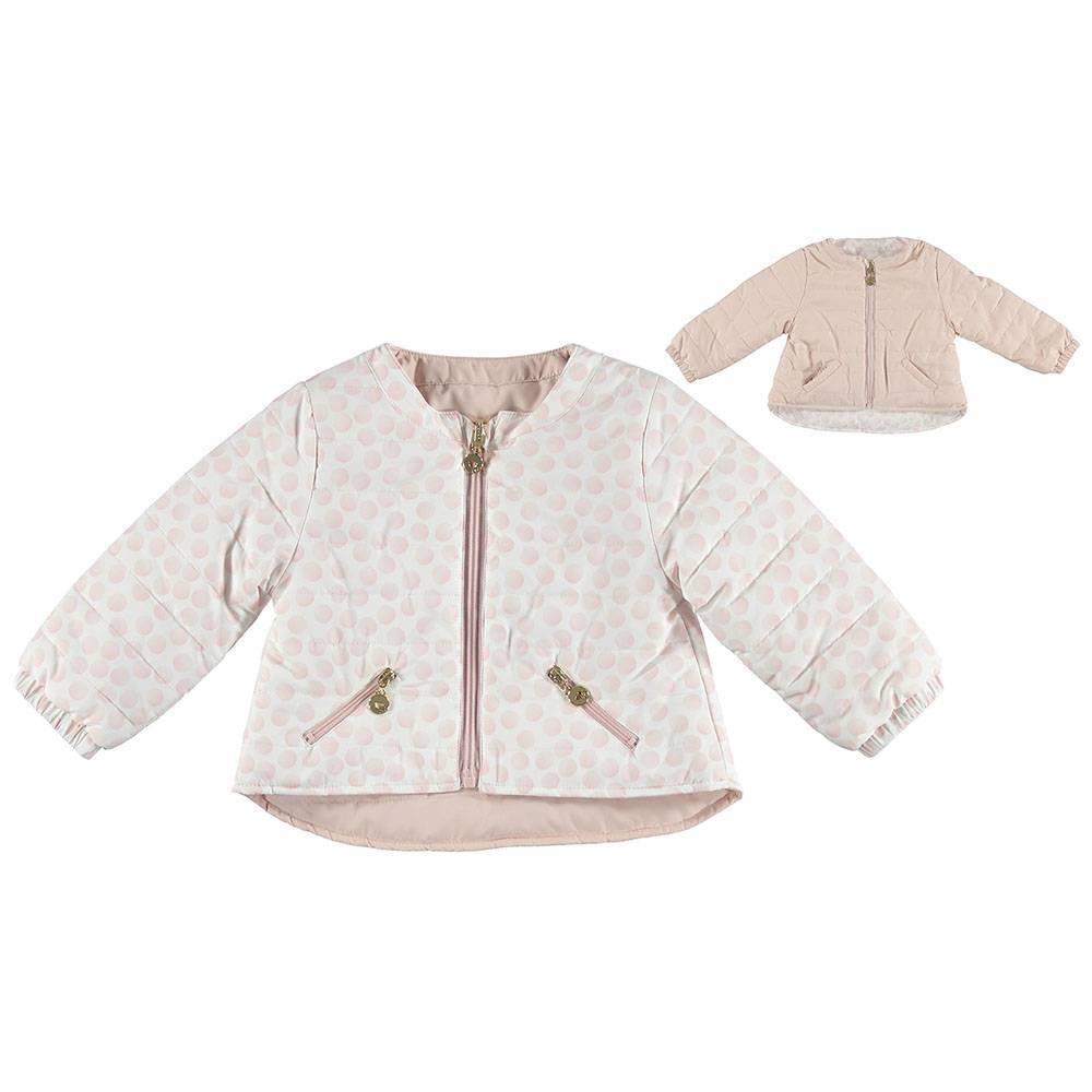 Куртка для девочки iDO демисезонная двухсторонняя розовый 4.S390.00/8146
