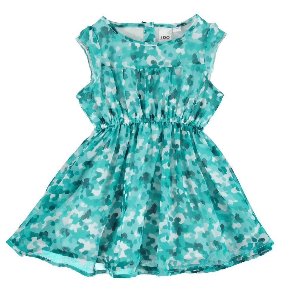 Платье для девочки iDO летнее без рукава принт 4.S773.00/6T99