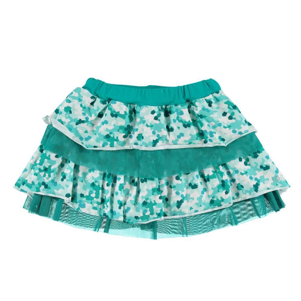 Юбка для девочки iDO летняя пышная цветная 4.S911.00/6T99