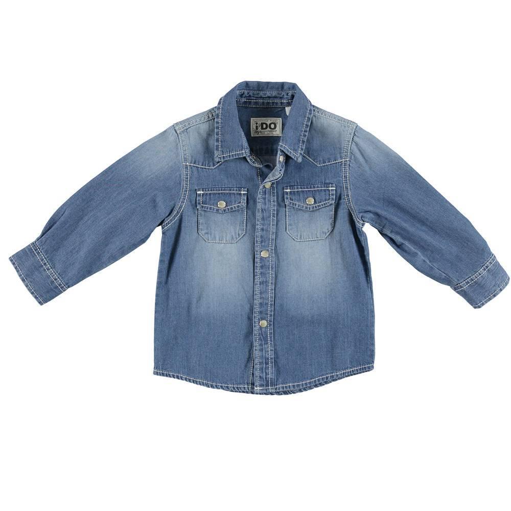 Рубашка для мальчика iDO джинсовая 4.S213.00/7310