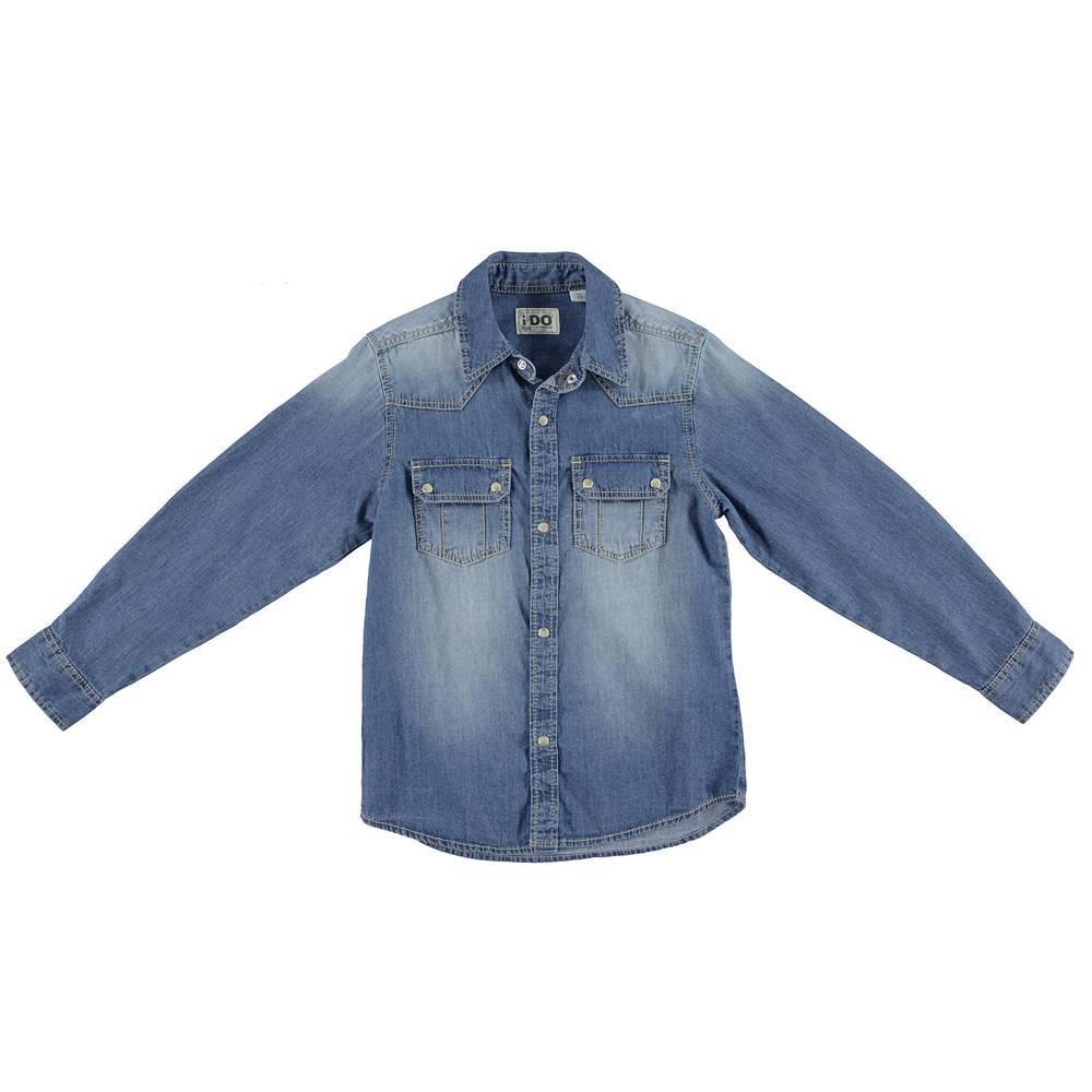 Рубашка для мальчика iDO джинсовая синий 4.S400.00/7400