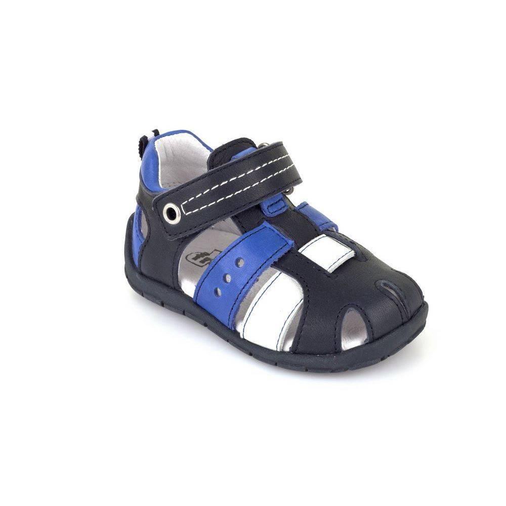 Сандалии для мальчика FRODDO натуральная кожа ремешок на липучке G2150071/Blue