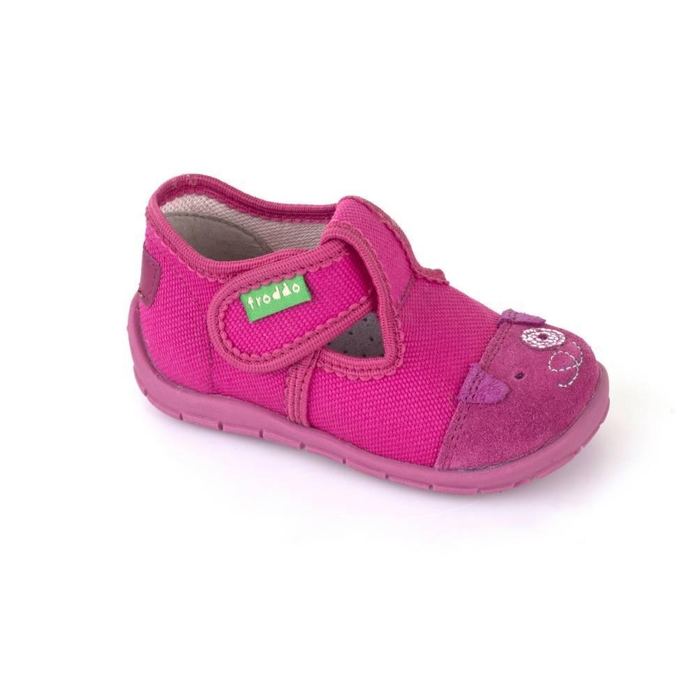 Тапочки для девочки Froddo текстиль розовый перепонки G1700175/Fuxia