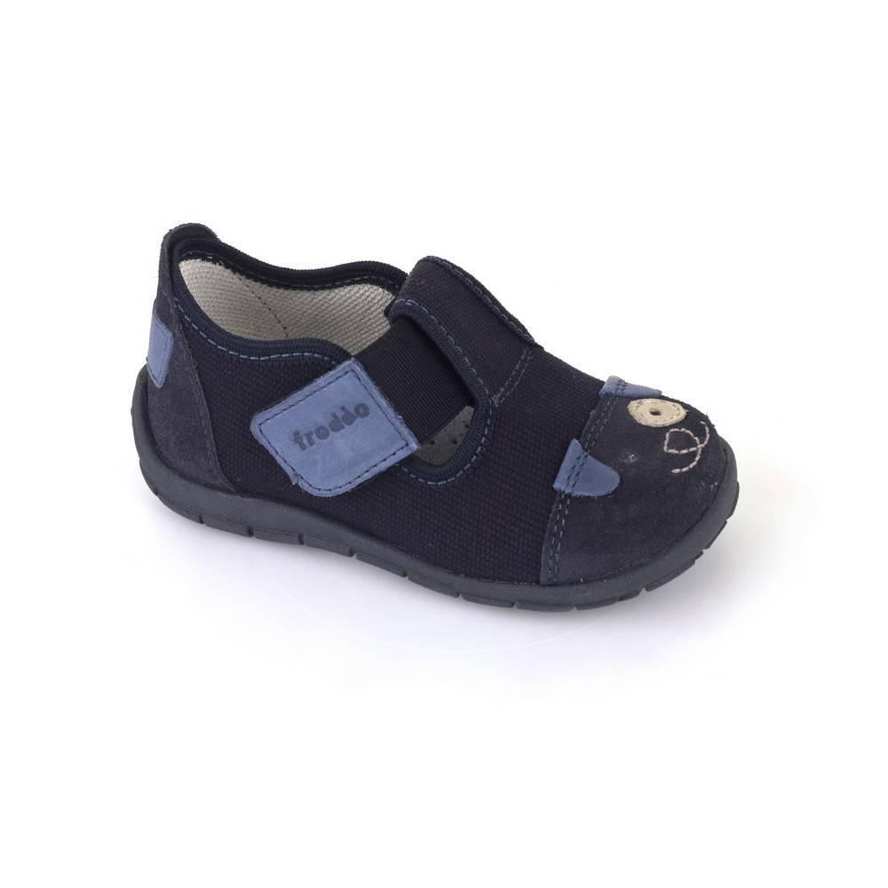 Тапочки для мальчика Froddo текстиль перепонка липучки G1700177/Blue