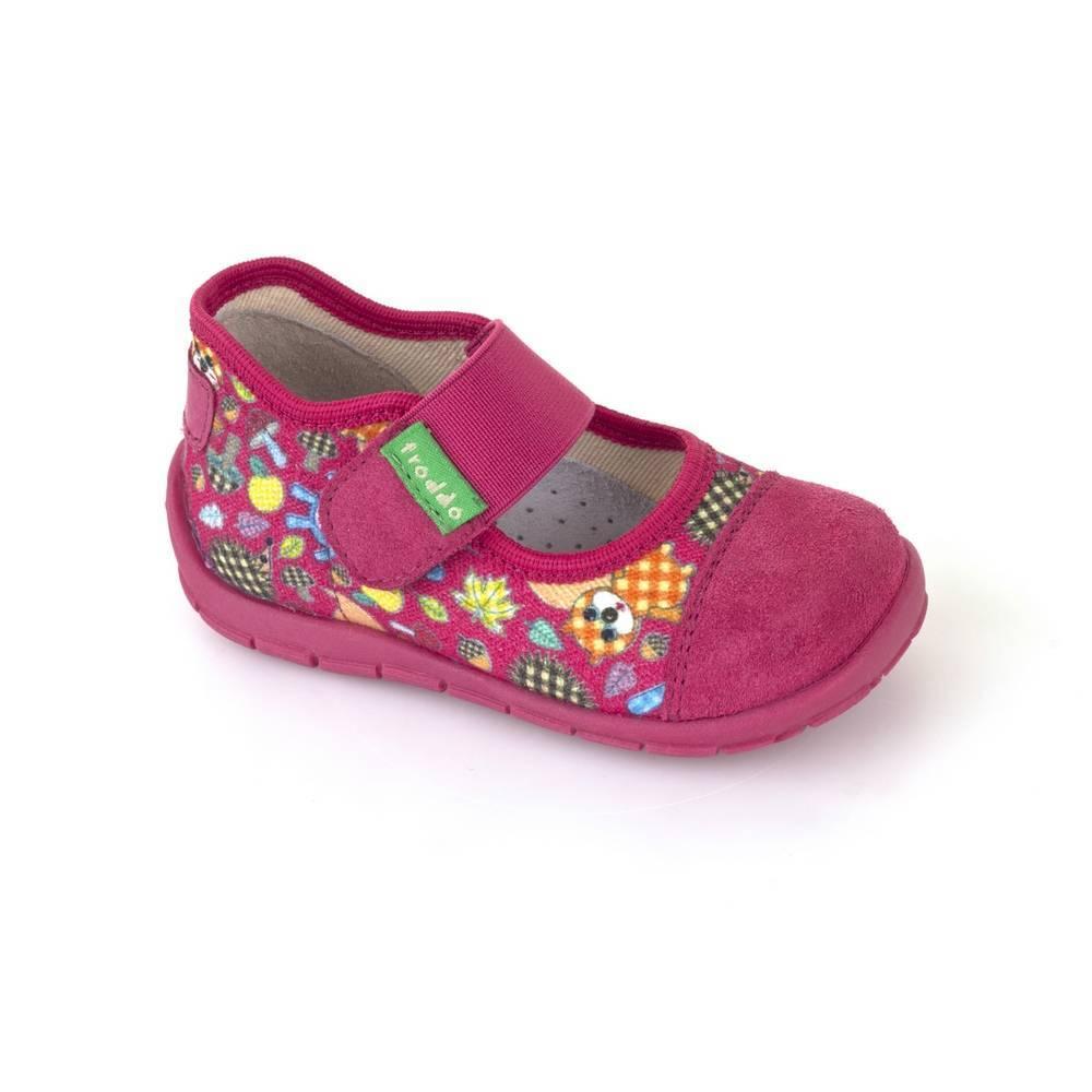 Тапочки для девочки Froddo текстиль перепонки липучки G1700178/fuxia+