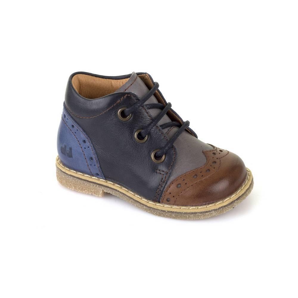 Ботинки для мальчика Froddo демисезонные натуральная кожа шнурки G2130128/blue+