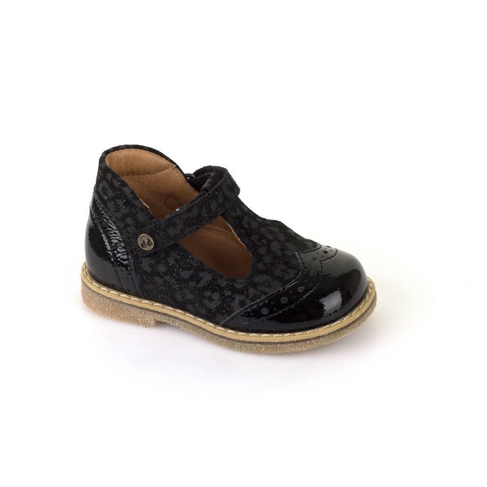 Туфли для девочки Froddo натуральная кожа черный перепонка G2140030-1/Black+