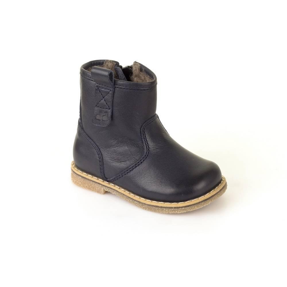 Ботинки для девочки Froddo зимние натуральная кожа на молнии G2160032m/DarkBlue