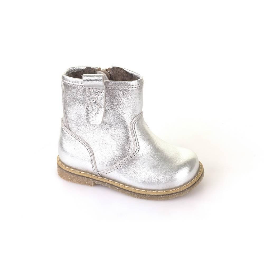 Ботинки для девочки Froddo зимние натуральная кожа на молнии G2160032-12m/Silver