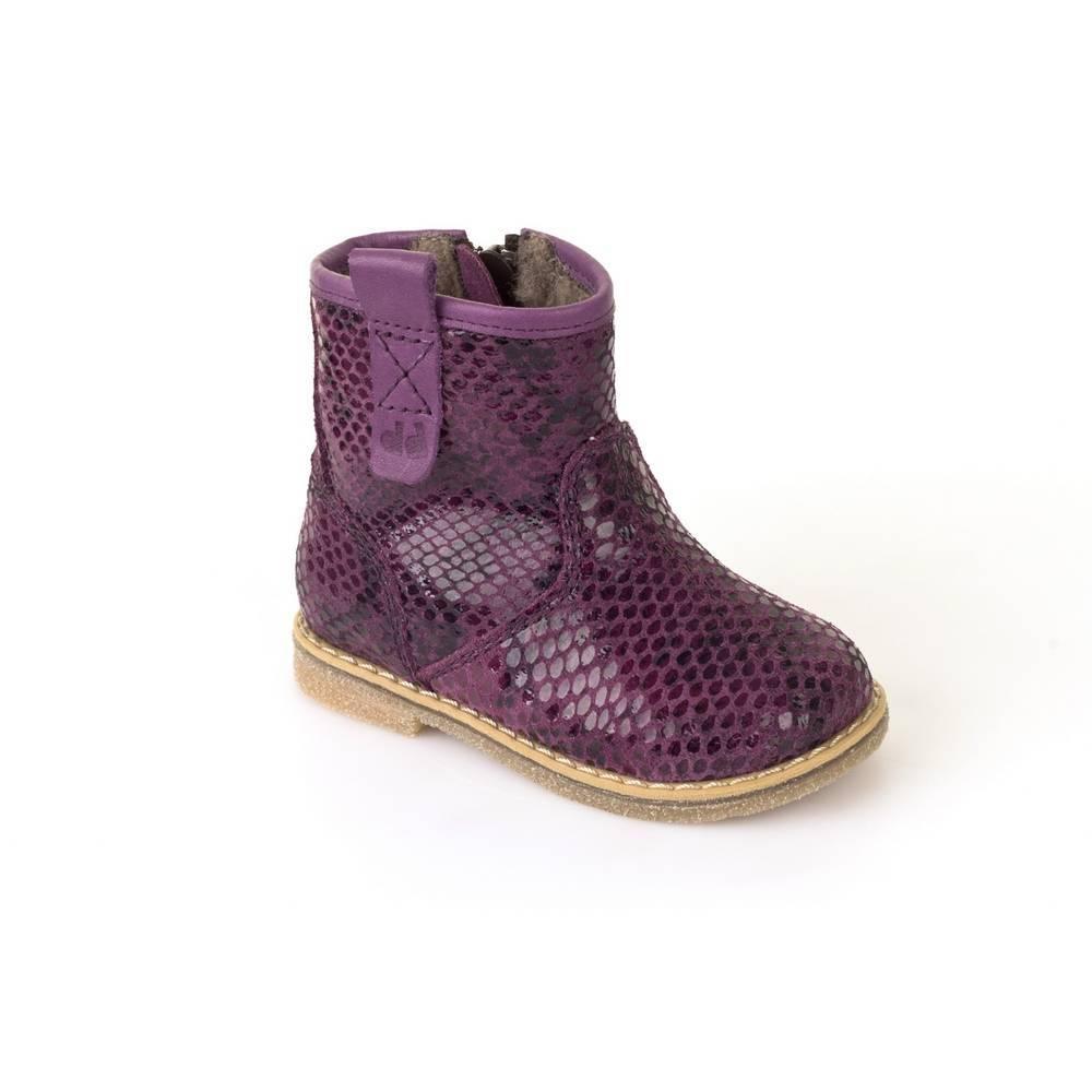 Ботинки для девочки Froddo зимние натуральная кожа на молнии G2160032-9m/PurplePython