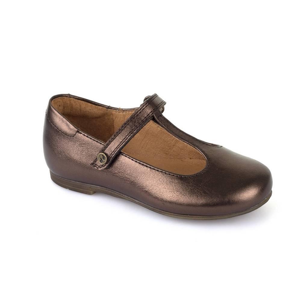 Туфли для девочек Froddo нарядные натуральная лаковая кожа на перепонке G3140062-3/BRONZE