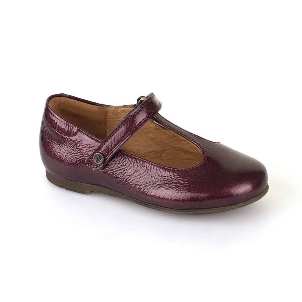 Туфли для девочки Froddo нарядные натуральная кожа перепонка G3140062-2/WinePatent